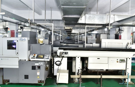 The CNC production workshop